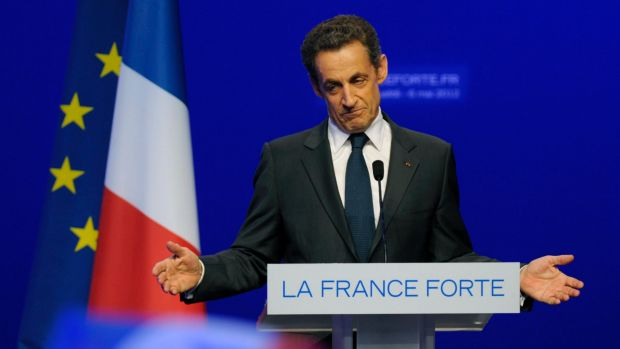 Intercepted: Former French president Nicolas Sarkozy.