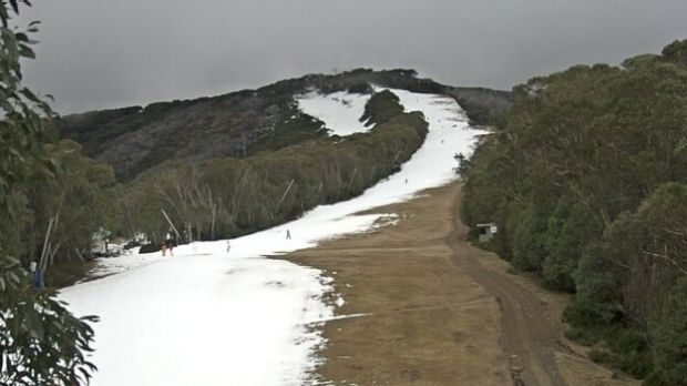 Little Buller Spur in Victoria offering some skiing on Wednesday.