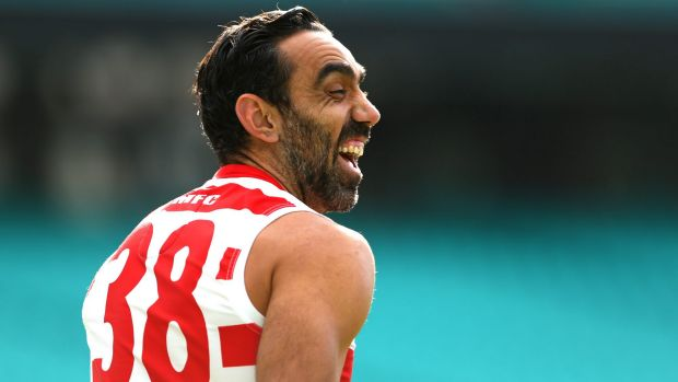 """Adam Goodes wants to look you in the eye and talk about who we really are and where we're really at."""