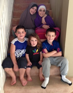 Sharrouf's children (clockwise from top left) Zaynab, Hoda, Abdullah, Humzeh, Zarqawi.