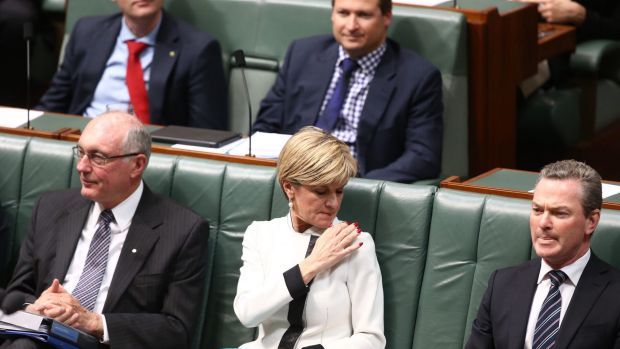 Ms Bishop during an attempted censure motion in question time on Wednesday.