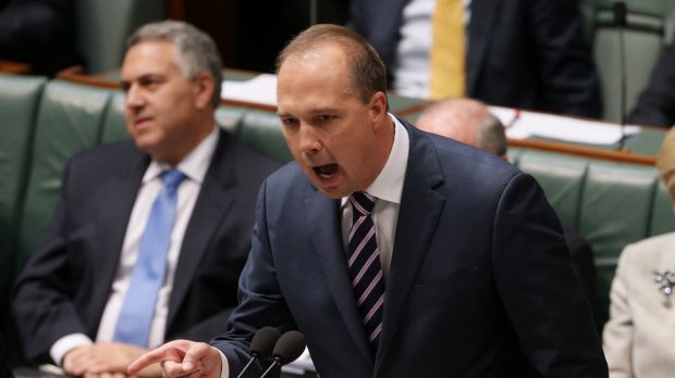 "Immigration Minister Peter Dutton claimed on Tuesday that ""I think there's a huge move by Fairfax at the moment to try ..."