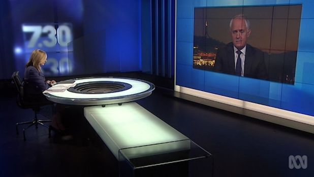 """I will decide what metaphors I use and the manner in which I use them"": Malcolm Turnbull."