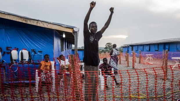 Liberian Ebola survivor George Beyan jubilant in October after learning his most recent blood test for the disease was ...