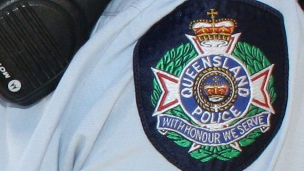 A police officer was bitten in a violent arrest in Nerang on Saturday morning