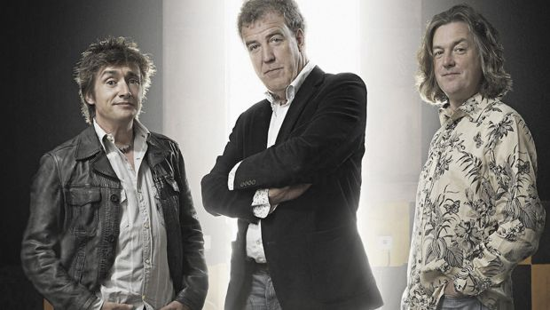 Happier times: Top Gear trio Jeremy Clarkson, Richard Hammond and James May.