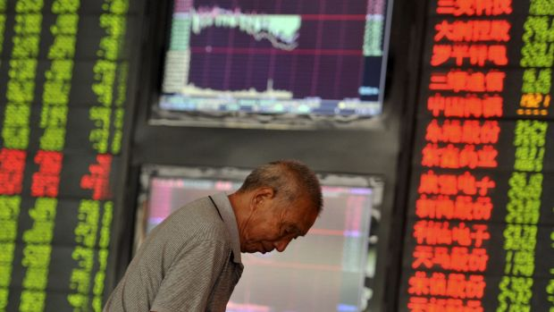 In China, stocks fell again Monday, leaving them down more than 20 per cent from their recent peak, in bear market territory.