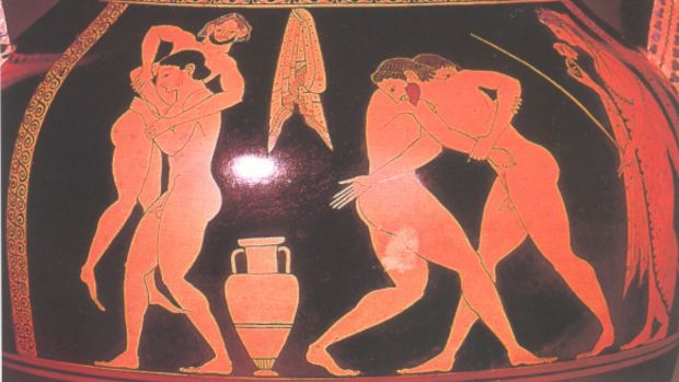 For ancient Greeks, same sex relationships were neither uncommon, nor frowned upon. Greek wrestling schools, as depicted ...