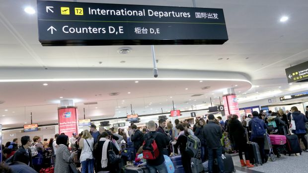 Travellers faced long queues during a two-hour strike at Melbourne Airport in July.