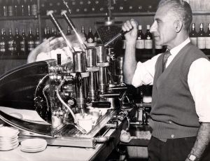 Coffee has long been popular in Australia: the espresso station at Chianti, in Elizabeth Street, near Central Station in 1957