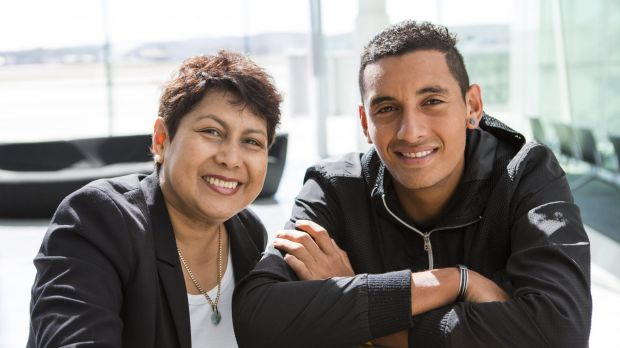 Nick Kyrgios with his mother Nill in their hometown of Canberra.