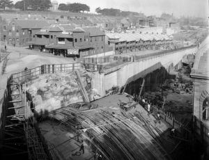 A historic photo of the iconic area near Darling Harbour, now known as Barangaroo.