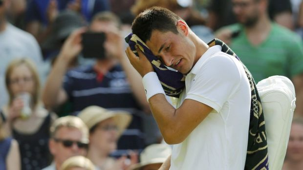 Angry young man ... Bernard Tomic unleashed a barrage of criticism against Tennis Australia and Pat Rafter in a press ...