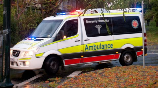 Paramedics are attemding a two vehicle crach in north Brisbane.