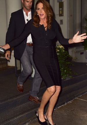 Caitlyn steps out.