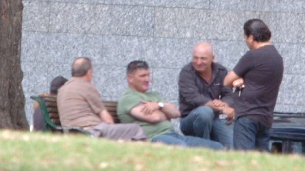 Park meeting with Madafferi and Pasquale 'Pat' Barbaro (in green t-shirt).