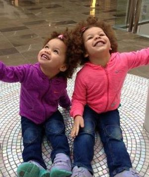 Savannah, 4, and Indianna Mihayo, 4, who were killed by their father, Charles Mihayo, at their home in Watsonia.