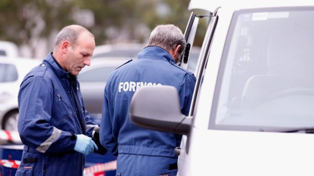 Forensic police are on the scene of an altercation at the Garratt Road Bridge in Bayswater. File Image.