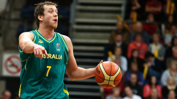 Nervous spectator: Boomers veteran Joe Ingles.