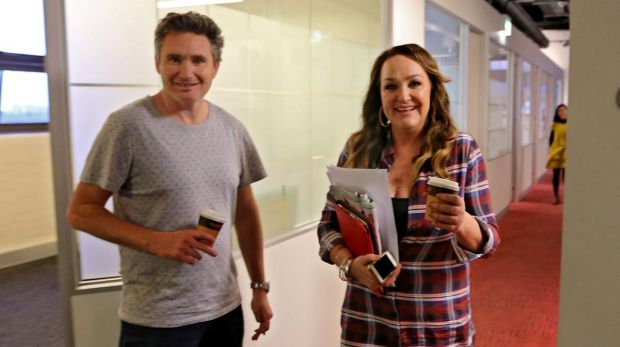 Behind the scenes with Dave Hughes and Kate Langbroek.