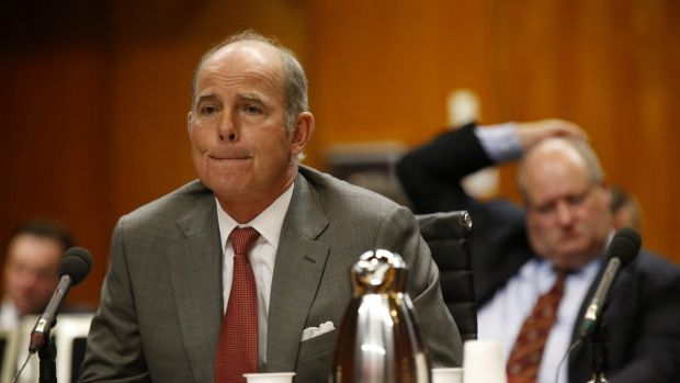 IOOF chief executive Chris Kelaher before the Senate inquiry in 2015. The company has lost two senior executives in ...