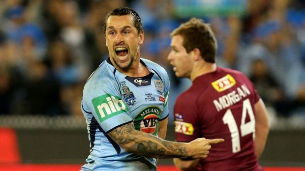 Future clouded: NSW five-eighth Mitchell Pearce.