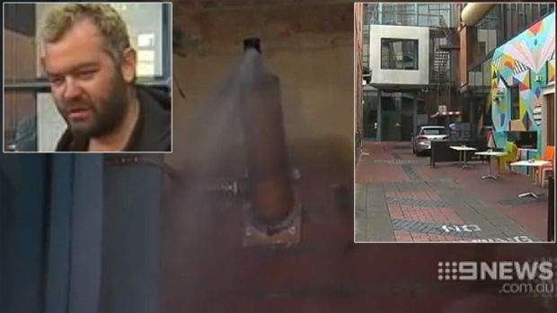 The spray system, installed to discourage homeless people sleeping in Munster Lane, has angered charities and people ...