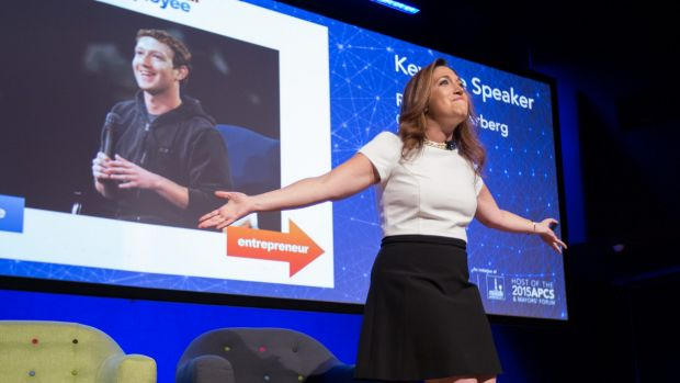 """Randi Zuckerberg, whose brother Mark created Facebook, told Brisbane that society has become too """"plugged in""""."""