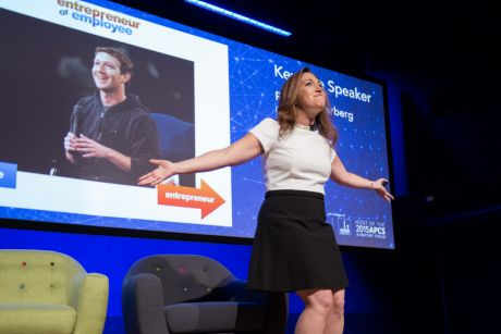 "Randi Zuckerberg, whose brother Mark created Facebook, told Brisbane that society has become too ""plugged in""."