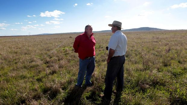 Andrew Pursehouse, who runs Breeza Station on the Liverpool Plains and Tim Duddy (left) denounced the government's ...
