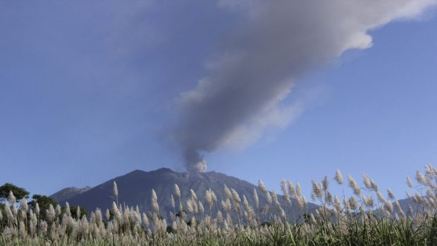 Flights in and out of Bali have been disrupted by a volcanic ash cloud.