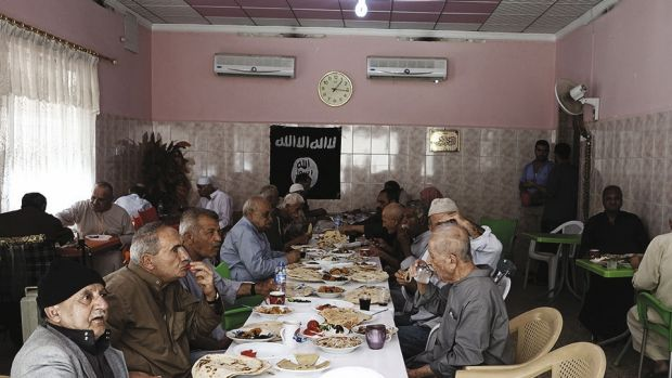 A nursing home under the Islamic State from the IS magazine Dabiq.
