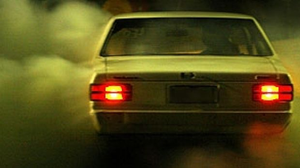 A man has been charged for doing a burnout in front of police in Midland.