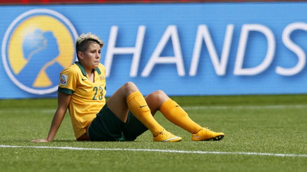 Michelle Heyman reflects after Australia was defeated by Japan in the World Cup quarter-finals.