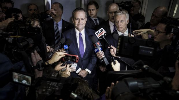 Opposition Leader Bill Shorten speaks to the media after appearing at the royal commission in July.