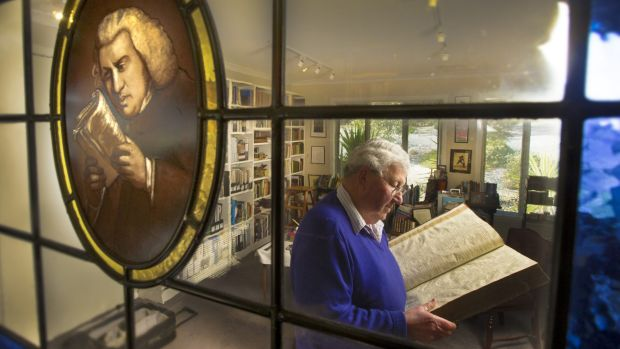 Retired lawyer John Byrne, who has one of the biggest collections of works by  Samuel Johnson.