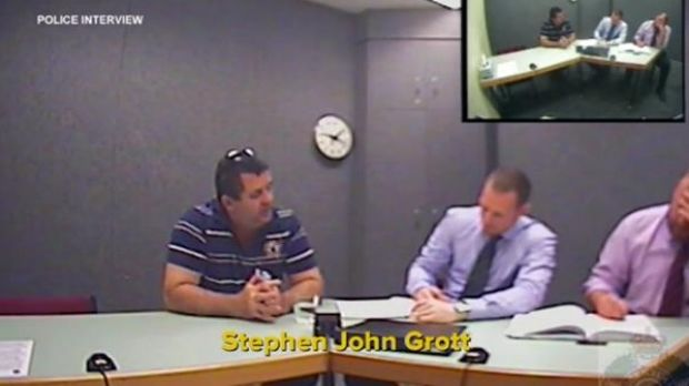 Police interview Stephen John Grott.