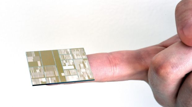 The 7 nanometre test chip with working transistors is the industry's smallest, the company said.