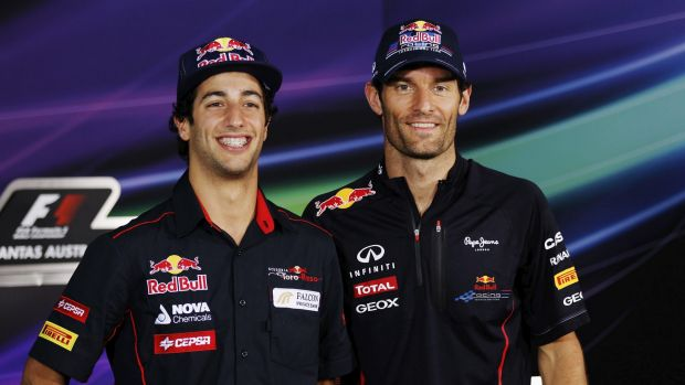 Tipped for success: Mark Webber has tipped compatriot Daniel Ricciardo as one of the men to beat on the Formula One circuit.