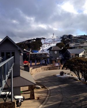 Mt Buller village this week.