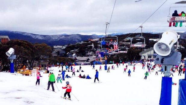 Snow guns have kept Mt Buller going this season.