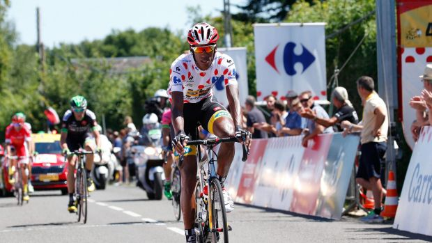 Pioneer: Daniel Teklehaimanot of Eritrea tackles the Tour de France.