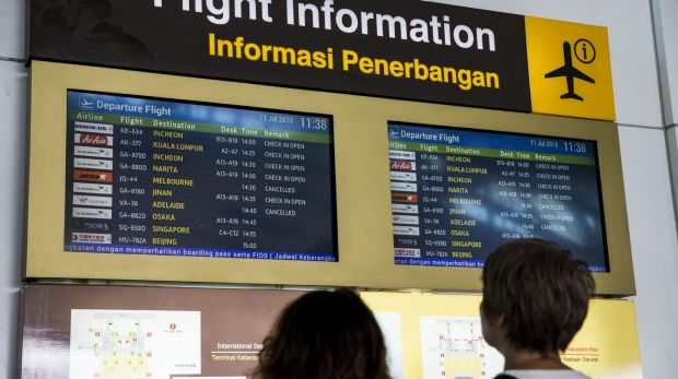 Flights resume after Virgin cancelled all flights in and out of Bali on Wednesday, and Jetstar had to send back a plane ...
