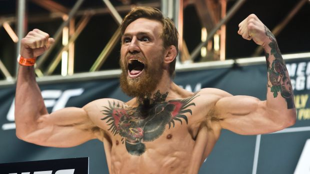 Irishman Conor McGregor will try to become the first UFC fighter to simultaneously hold belts in two weight classes.