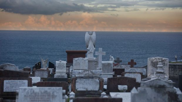 Sought after: Gravestones at Waverley Cemetery, where plots are in high demand. A burial certificate with a 25-year ...