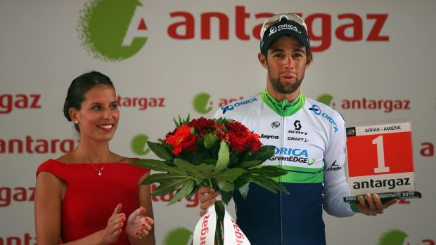 Big year: Michael Matthews with the most combative rider award following stage five of the Tour de France.