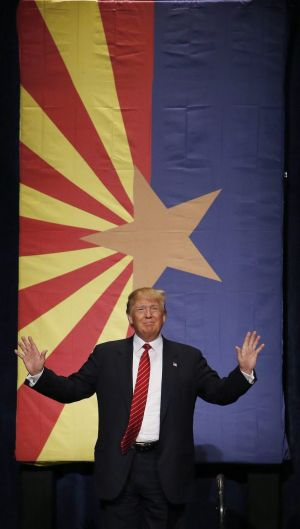 The triumph of Trump - seen here in Arizona on Saturday - could spell disaster for the Republican Party.