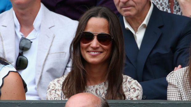 Pippa Middleton attends day thirteen of the Wimbledon Lawn Tennis Championships at the All England Lawn Tennis and ...
