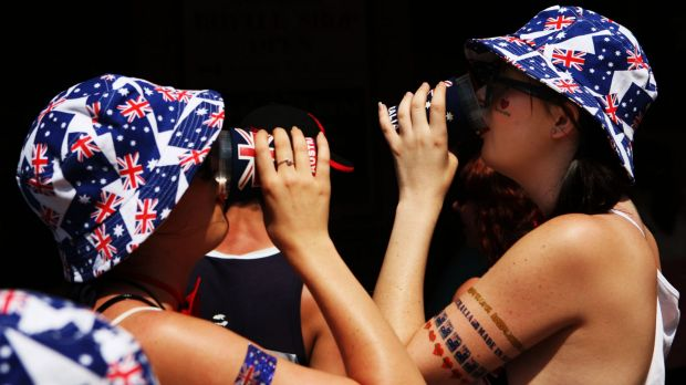 Police ask revellers to drink sensibly on Australia Day.