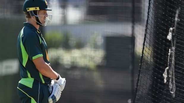 Under pressure: Shane Watson is trying to focus on the future.